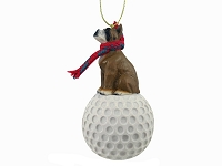 Boxer golf Ornament