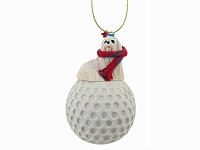 Maltese golf Ornament