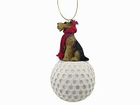 Airedale golf Ornament