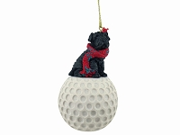 Shar Pei Black golf Ornament