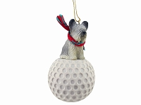 Skye Terrier golf Ornament