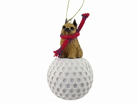 Brussels Griffon Red golf Ornament