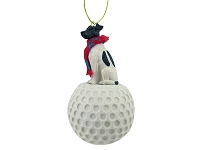 Fox Terrier Black & White golf Ornament