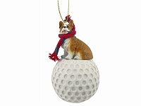 Dog Golf Ornaments