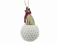 Norwegian Elkhound golf Ornament
