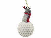 Cairn Terrier Gray golf Ornament