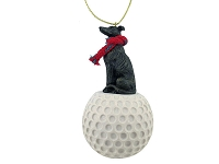 Greyhound Brindle golf Ornament