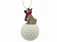 Akita Gray golf Ornament