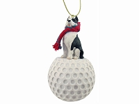 Pit Bull Terrier Brindle golf Ornament