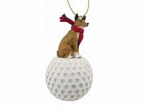 Basenji golf Ornament