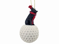 Schipperke golf Ornament