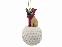 French Bulldog Fawn golf Ornament