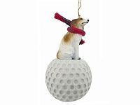 Borzoi golf Ornament