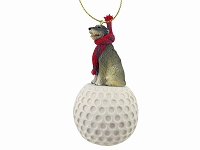 Irish Wolfhound golf Ornament