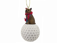 Norwich Terrier golf Ornament