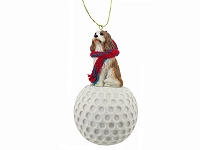 Cavalier King Charles Spaniel Brown & White golf Ornament