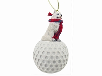 American Eskimo golf Ornament