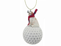 English Setter Belton Orange golf Ornament