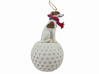 Whippet Brindle & White golf Ornament