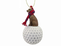Vizsla golf Ornament