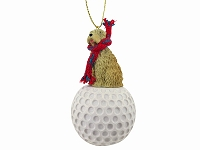 Soft Coated Wheaten Terrier golf Ornament