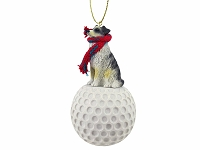 Australian Shepherd Blue golf Ornament