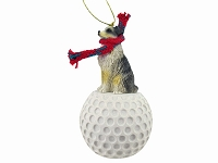 Australian Shepherd Blue w/Docked Tail golf Ornament