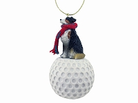 Australian Shepherd Tricolor golf Ornament
