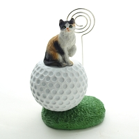 Calico Shorthaired Golf Memo Holder