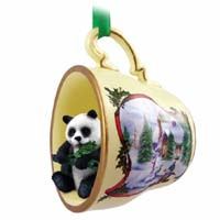 Ornaments Tea Cup Snowman Holiday Animals