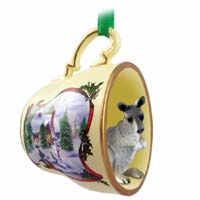 Kangaroo Tea Cup Snowman Holiday Ornament