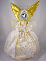 Poodle White Doogie Collection Angel Tree Topper