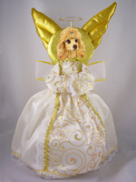 Poodle Apricot Doogie Collection Angel Tree Topper
