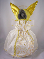 Poodle Chocolate Doogie Collection Angel Tree Topper
