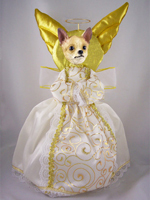 Chihuahua Tan & White Doogie Collection Angel Tree Topper