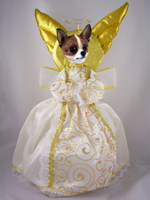 Chihuahua Brindle & White Doogie Collection Angel Tree Topper