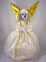 Poodle Gray w/Sport Cut Doogie Collection Angel Tree Topper