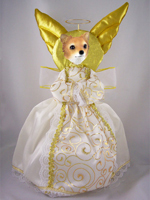 Chihuahua Longhaired Doogie Collection Angel Tree Topper