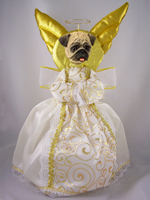 Pug Fawn Doogie Collection Angel Tree Topper