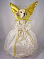 Labrador Retriever Yellow Doogie Collection Angel Tree Topper