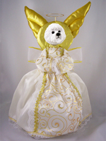 Bichon Frise Doogie Collection Angel Tree Topper