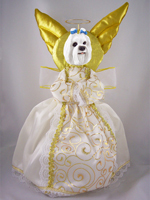 Maltese Doogie Collection Angel Tree Topper