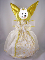 American Eskimo Doogie Collection Angel Tree Topper