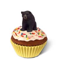 Bear Black Cupcake Trinket Box