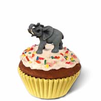 Elephant Cupcake Trinket Box