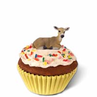 Deer Doe Cupcake Trinket Box