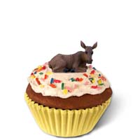 Moose Cow Cupcake Trinket Box