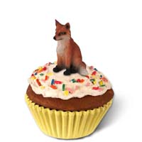 Fox Red Cupcake Trinket Box
