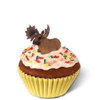 Moose Bull Cupcake Trinket Box