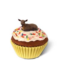 Goat Brown Cupcake Trinket Box